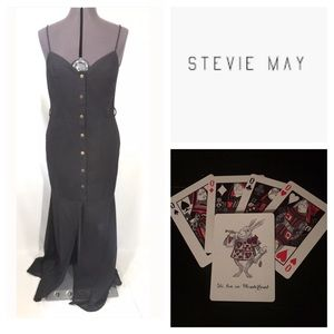 Stevie May Gisel Dress Linen Snap Urban Outfitters